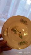 Aláirt porcelán tányér 1887 Zsombolya Várnay