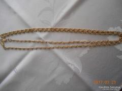 120 cm / Hosszú Aranyozott Lánc