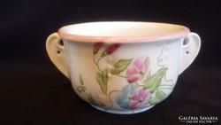 Alján is festett antik gyűjteményes kétfülű csésze