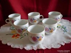 Régi Alföldi porcelán kávés csésze 6 db