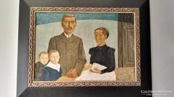 Zoltánfy István 1970-es tempera festménye
