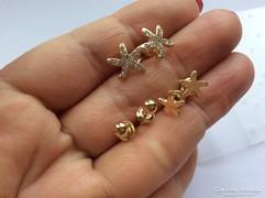 3 pár tengeri csillag fülbevaló