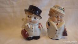 Német porcelán figurás fűszerszóró pár