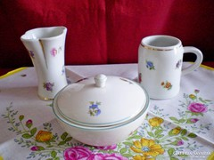 Hollóházi, Drasche váza, cukortartó, korsó