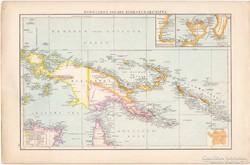 Új - Guinea és Csendes - óceáni - szigetek térkép1887, német