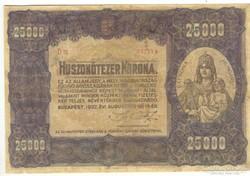25000 korona 1922 I.