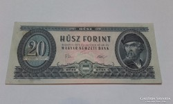 20 forint 1975-ös ropogós bankjegy!