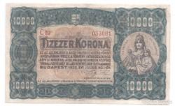 10000 korona 1923 Orell Füssli Zürich Bomba jó áron!!!