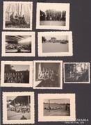 9 db. II.vh-s erdeti fotó, német katonák.