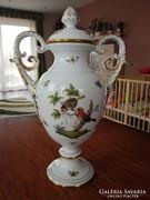 Herendi Rothschild mintás serleg váza eladó! 37 cm!