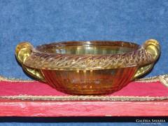 Antik borostyán színű asztalközép