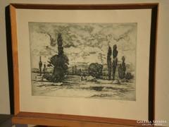 Artner Ferenc (1904-1981) : Táj szénagyűjtőkkel