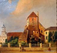 """Sterio Károly ( 1821-1862 ) """" Városi utcza """""""
