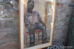Ghánai férfi  akvarell.