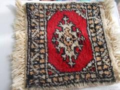 Szőnyeg  2 db gyapjú, kézicsomózású miniszőnyeg