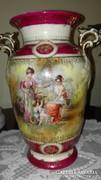 Firenzei antik, jelzett, puttós ,angyalkás váza