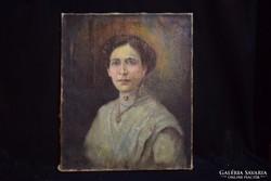 Női portré, olaj-vászon (gs0496)