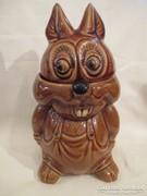 Nyuszi bonbontartó-bonboniner mázas kerámia 25 cm.
