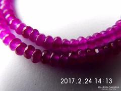 Rózsavörös rubin nyaklánc