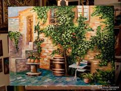 Mediterrán kert Festmény