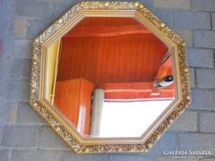 Fa keretes tükör.Gyönyörű,hibátlan.