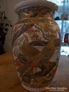 19. száadi Kínai porcelán fajansz vegyes technikájú váza.