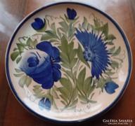 Kerámia tányér-búzavirággal
