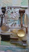 Konyhai eszközök,kanál,fogas stb.