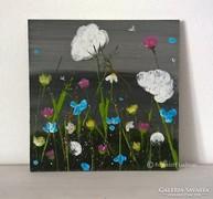 Virágos-modern kis festmény 3