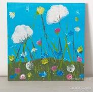 Virágos-modern kis festmény 8