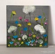 Virágos-modern kis festmény 11