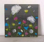 Virágos-modern kis festmény 12
