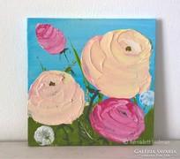 Virágos-modern mini festmény 27