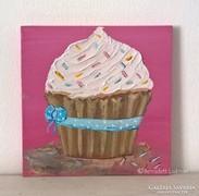 Cupcake-modern mini festmény 31