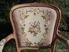 Antik Barokk gobelin szék