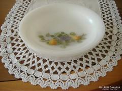 Gyümölcs mintás tejüveg jénai arcopal két db-os mély tányér
