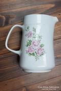 Rózsás alföldi porcelán kancsó 1,2 literes hibátlan