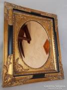 Nagyon szép fekete- arany barokk, csiszolt tükörrel!
