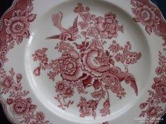 "2 db Angol pink-Crown Ducal-""BRISTOL-fácános tál-25 cm"