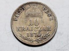 10-ezüst krajcár 1870-KB.-VP.!