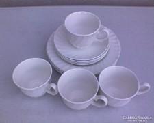 Fehér angol porcelán kávéskészlet 12 db