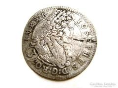 3 Kreuzer Josephus 1710, középkori ezüst pénzérme