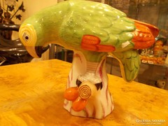Különleges 1944-es Herendi porcelán papagáj.