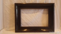 Régi tömör fa képkeret falc 21x32 cm