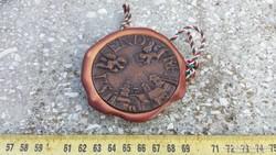 Szentendre bronz-agyag emléktárgy