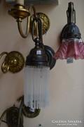 Felújított üvegpálcás falikar