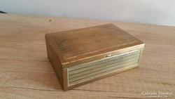 Régi szép art deco réz cigarettatartó doboz