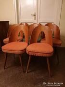 8 db Tátra mid century étkezőszék design székek