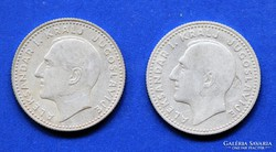 10 Dinar 1931, Jugoszlávia, 2 db