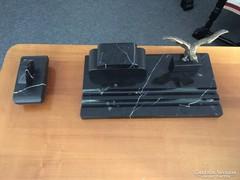 Fekete márvány íróasztal-készlet